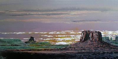 Rockgarden Sunset Art Print by Bill Brown