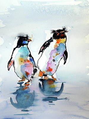 Painting - Rockhopper Penguin by Kovacs Anna Brigitta