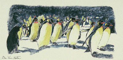 Painting - Penguin Rockhoppers by Dee Van Houten