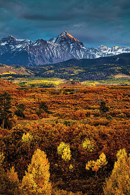 Rockies At Autumn Art Print by Andrew Soundarajan