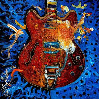 Painting - Rockin Epiphone by Neal Barbosa