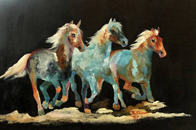 Painting - Rockin' Horses by Barbie Batson