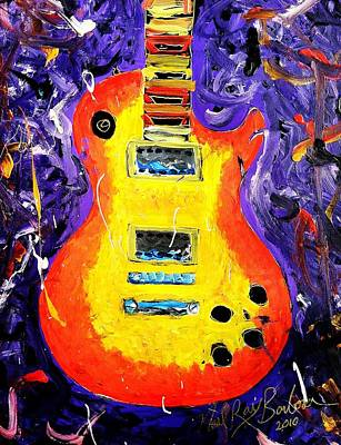 Painting - Rockin The Gibson Les Paul by Neal Barbosa