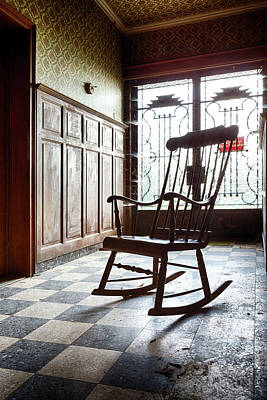 Abandoned House Photograph - Rocking Chair - Abandoned House by Dirk Ercken