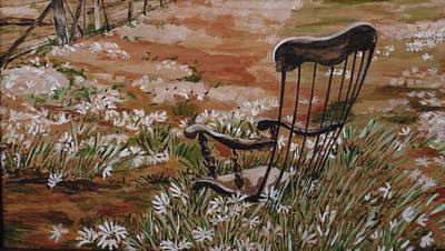Rocking Chairs Mixed Media - Rocking Chair No.2 by Christine Marek-Matejka