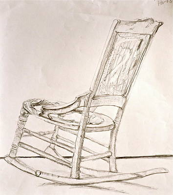 rocking chair drawing. rocking chair drawing - sketch by laura ogrodnik r