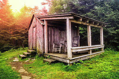 Photograph - Rocking Chairs At The Top Mt Leconte by Debra and Dave Vanderlaan