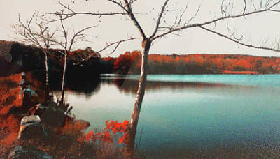 Photograph - Rockland Autumn by Roger Bester