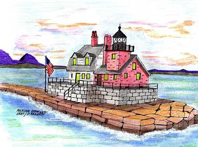 Rockland Breakwater Light Art Print