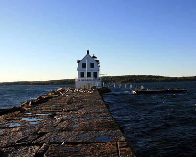 Photograph - Rockland Breakwater Lighthouse 2 by George Jones