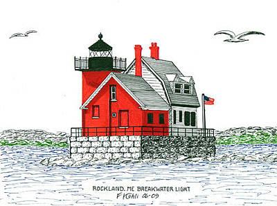 Rockland Breakwater Lighthouse Original by Frederic Kohli