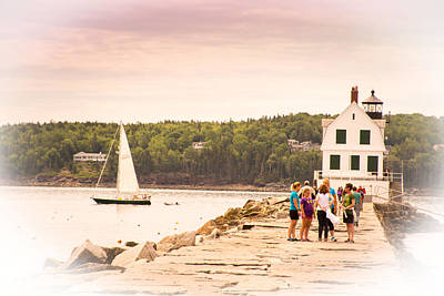 Photograph - Rockland Breakwater by Paul Miller