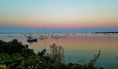 Photograph - Rockland Harbor At Dusk by Marilyn Burton