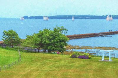 Photograph - Rockland Harbor Boats by Tom Singleton