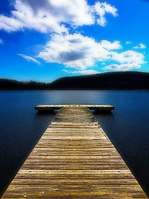 Photograph - Rockland Lake Dock by Lorella Schoales