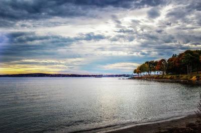 Maine Mountains Digital Art - Rockland Sunset by Terry Davis