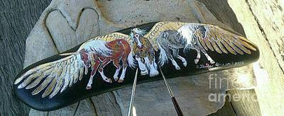 Mixed Media - Rock'n'ponies Epic Legends by Louise Green