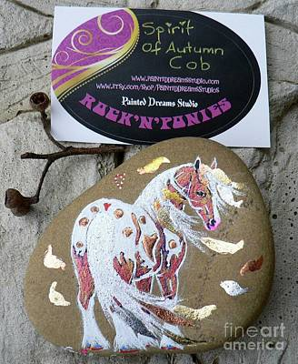 Mixed Media - Rock'n'ponies - Spirit Of Autumn Cob by Louise Green