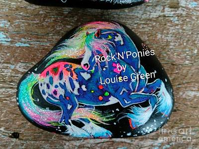 Mixed Media - Rock'n'ponies Storm Dancer Gypsy by Louise Green