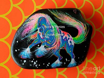 Mixed Media - Rock'n'ponies - Storm Dancer Unicorn by Louise Green