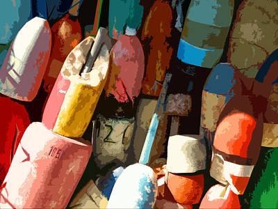 Rockport Buoys Art Print