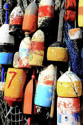 Rockport Buoys Art Print by Lou Ford