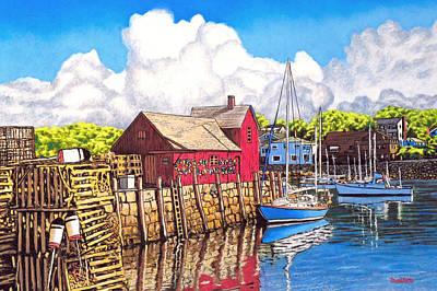 Rockport Cove Art Print by David Linton