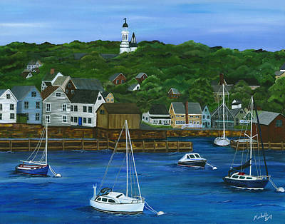 Rockport Dawning Art Print by Michelle Joseph-Long
