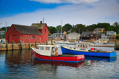 Otter Photograph - Rockport Harbor 2 by Emmanuel Panagiotakis