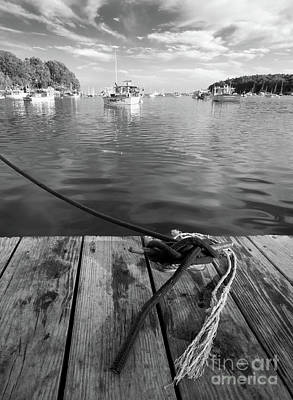 Photograph - Rockport Harbor, Maine #80458-bw by John Bald