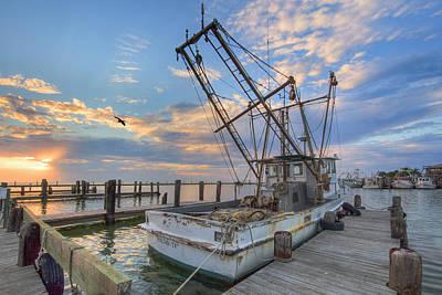 Rockport Harbor Shrimp Boat 21 Art Print