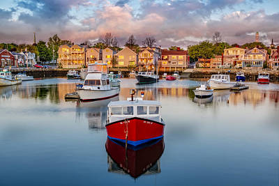 Photograph - Rockport Harbor by Susan Candelario