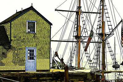 Photograph - Rockport Harbor by Tom Cameron