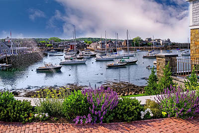 Photograph - Rockport In Bloom by Mark Myhaver