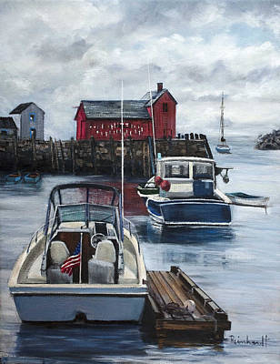 Motif 1 Painting - Rockport by Lisa Reinhardt