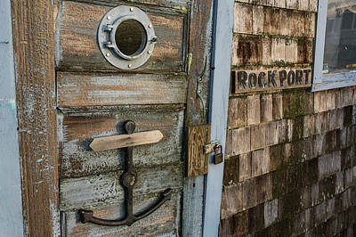 Photograph - Rockport Ma Old Rickety Shack Anchor Door by Toby McGuire