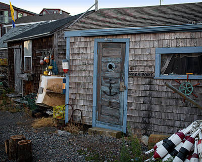Photograph - Rockport Ma Old Shack Lots And Lots Of Nautical Stuff by Toby McGuire