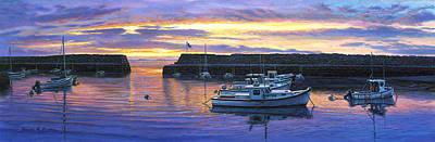 Rockport Ma Sunset Art Print by Bruce Dumas