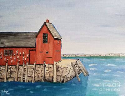 Painting - Rockport Motif In Winter by Mary Capriole