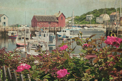 Photograph - Rockport Motif No 1 - Red Fishing Hut by Joann Vitali