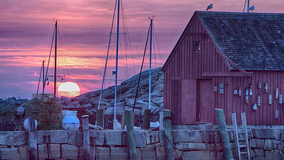 Photograph - Rockport Motif1 At Sunrise by Jeff Folger