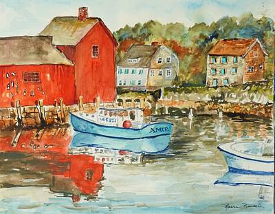 Painting - Rockport by P Maure Bausch
