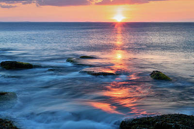 Photograph - Rockport Pastel Sunset Ma. by Michael Hubley