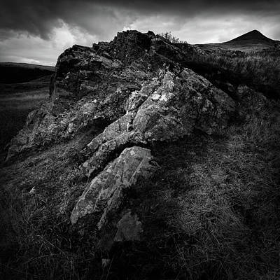 Heath Photograph - Rocks And Ben More by Dave Bowman