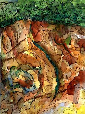 Painting - Rocks And Caves by Marilyn Barton