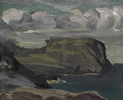 Bellows Wall Art - Painting - Rocks And Coast by George Bellows