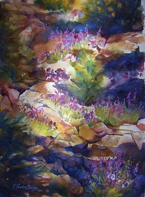 Lassen Painting - Rocks And Lupine    Sold by Therese Fowler-Bailey