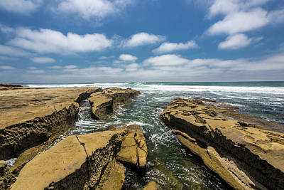 Surf Lifestyle Photograph - Rocks And Puffies by Peter Tellone