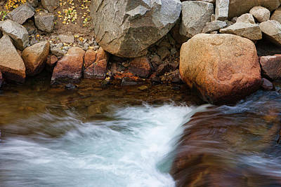 Photograph - Rocks And Rushing Mountain Stream by Ram Vasudev