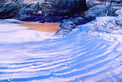 Art Print featuring the photograph Rocks And Sand 2 by Lyle Crump